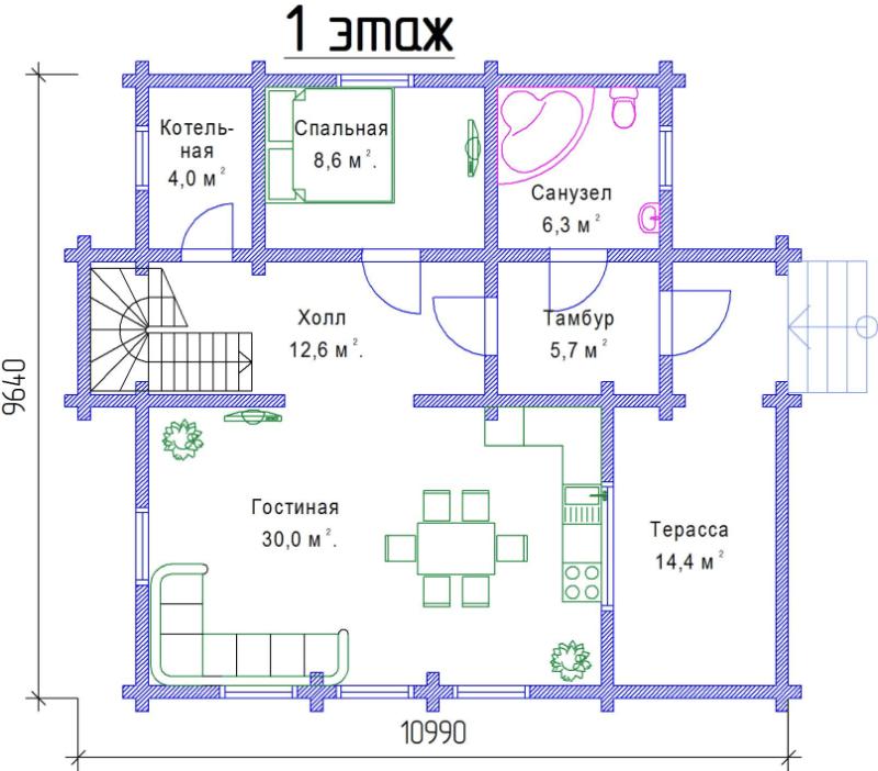 1 этаж, 140 м2
