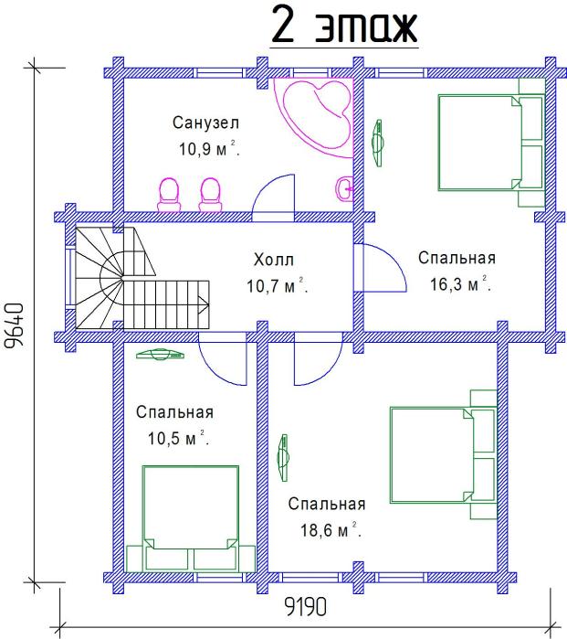 2 этаж, 98 м2
