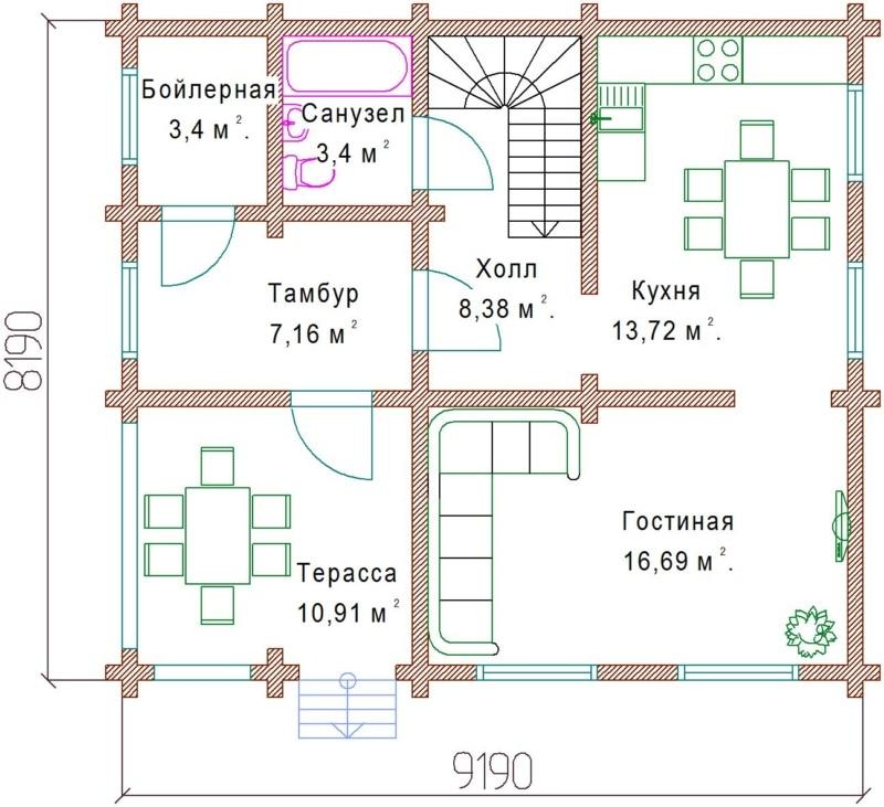 Планы 1 этажа