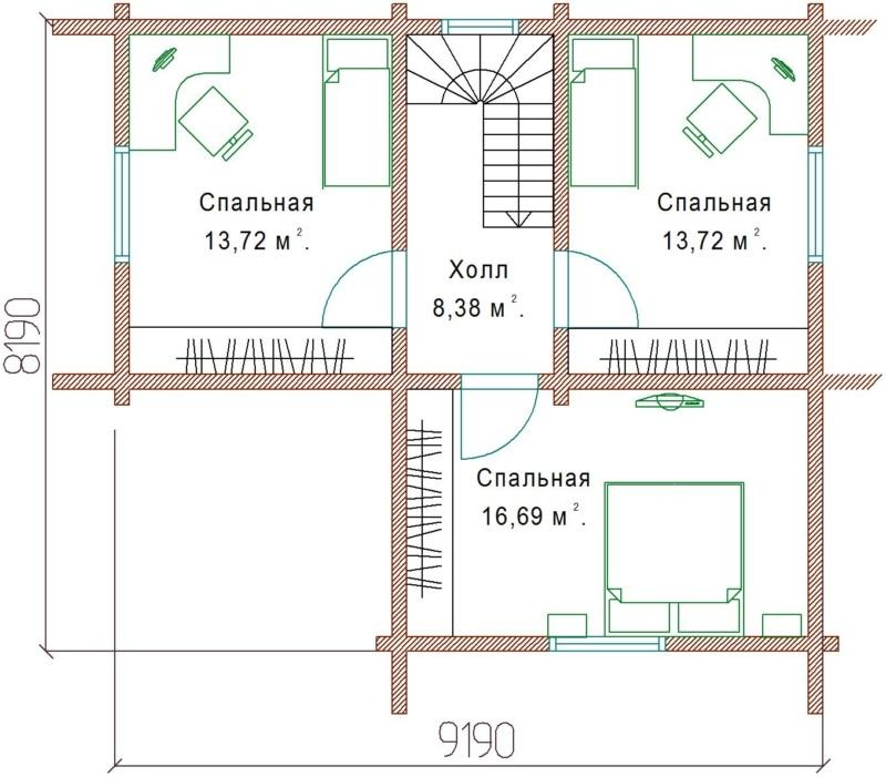 Планы 2 этажа