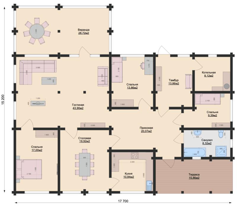 План этажа-1