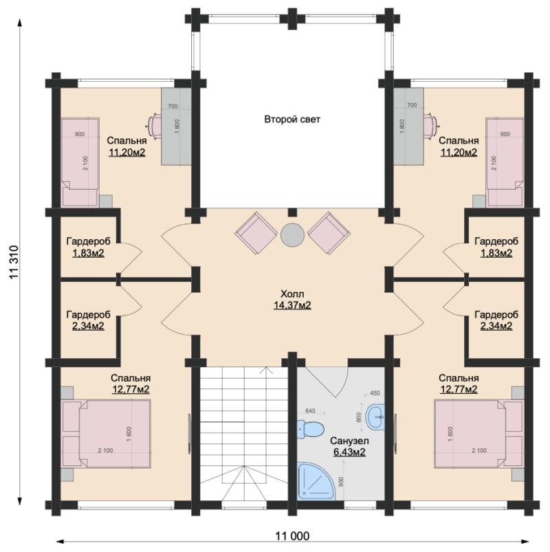 План этажа-2